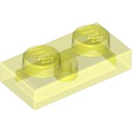 6240204 Lego Platte 1x2 Transparent 10 Stück