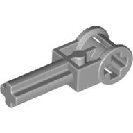 4211536 / 6553 Technic Verbinder / Catch mit 2M Kreuzachse 90° Hellgrau / Medium Stone Grey