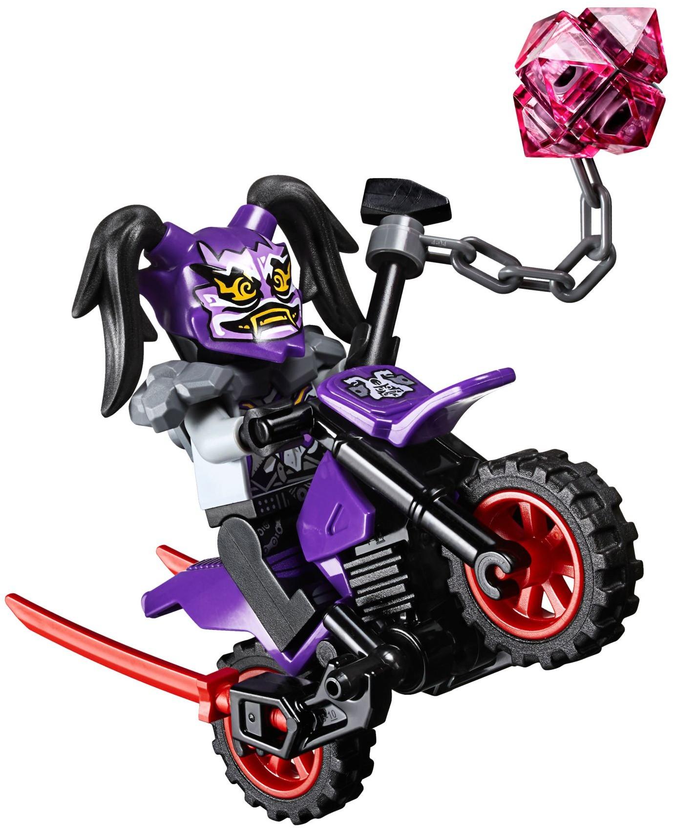 Spielzeug LEGO Ninjago Minifigur Ultra Violet mit Oni Maske Waffen und  Motorrad aus 70641 triadecont.com.br