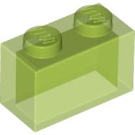 6244911 35743 classic brick 1x2 transparent bright green