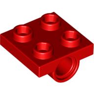 281721 technic lagerplatte 2x2 rot