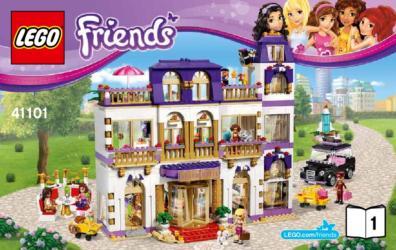 41101 Lego Friends Heartlake Grand Hotel Heartlake Grosses Hotel Klickbricks