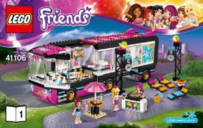 41106 - Figur Minifig Heartlake Tourbus 41106 LEGO Friends Popstar Stephanie