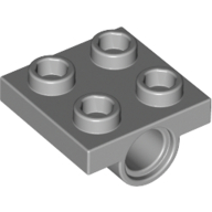 4211376 technic lagerplatte 2x2 neu hellgrau