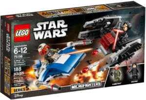 75196 Lego Star Wars A Wing vs TIE Silencer
