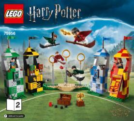 LEGO® Harry Potter™ Figur aus Set 75956 Marcus Flint mit Quaffel mit Besen NEU