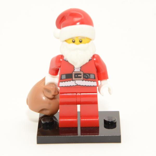 Lego Minifigur Winterdorf Weihnachtsmann mit Sack
