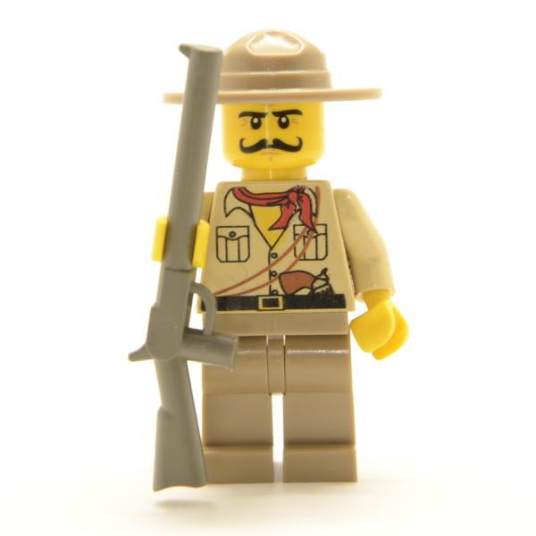 Lego Minifigur Jäger mit Gewehr und Hut