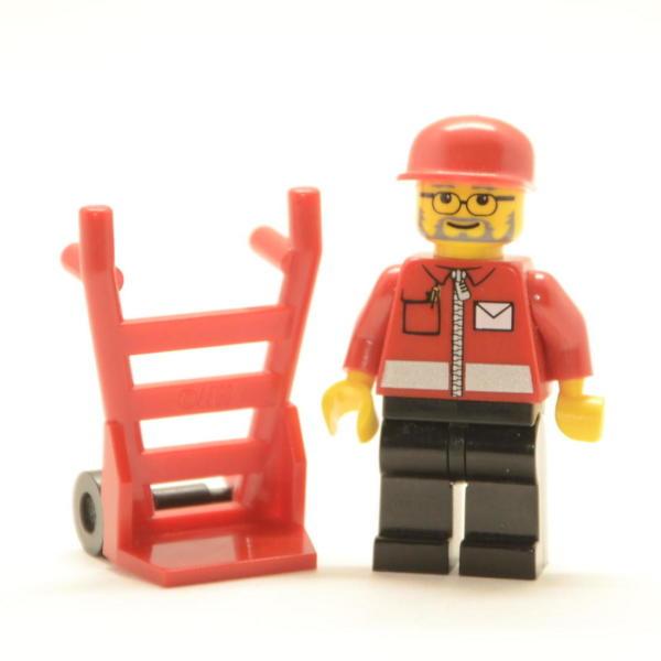 Lego Minifigur Postbote / Briefträger (Custom)