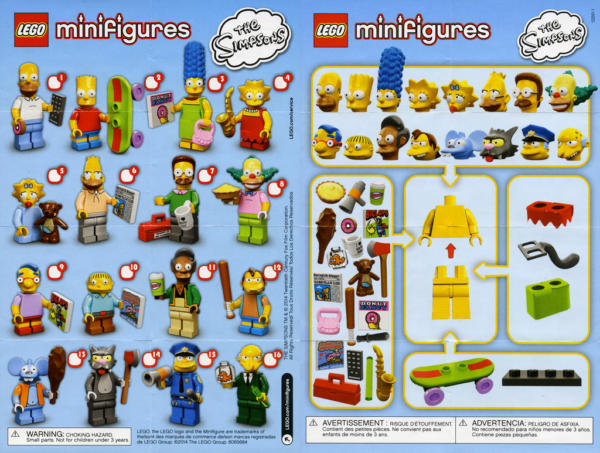 Minifigures The Simpsons Serie 1