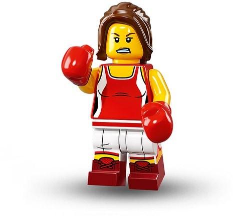 Lego Minifigur Serie 16 Boxer Mädchen Figur 8 (71013)