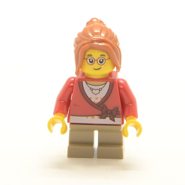 Minifigur Mädchen mit Brille