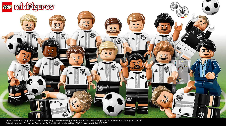 Baukästen & Konstruktion LEGO Bau- & Konstruktionsspielzeug Lego DFB Die Mannschaft Minifiguren  komplett alle 16 Figuren 71014  NEU