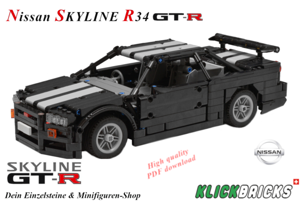 lego moc nissan skyline r34 gtr (2)