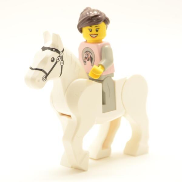 Lego Minifigur Reiterin mit Pferd