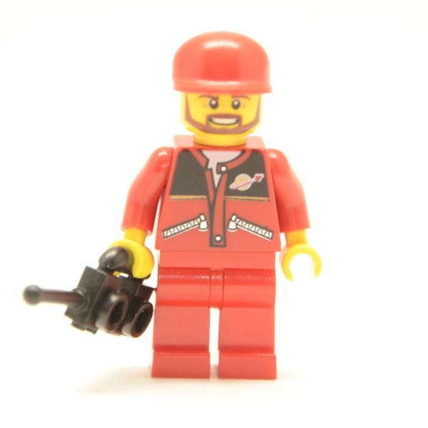 Lego Classic Minifigur Spaceshuttle Pilot / Arbeiter (Custom)