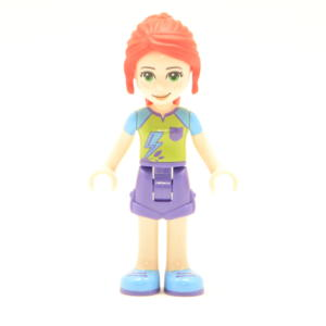 Lego Friends Minifigur Mia (Custom) Beine Mittel Lila