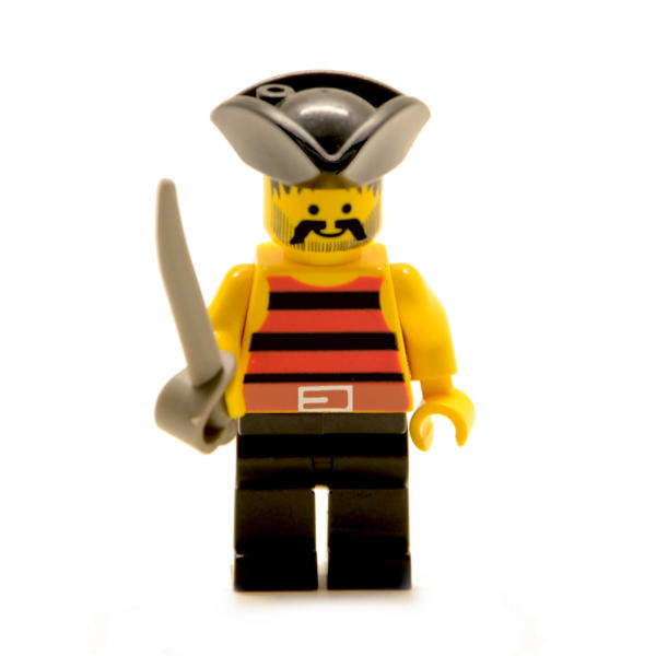 Lego Minifigur Pirat mit Säbel (Custom)