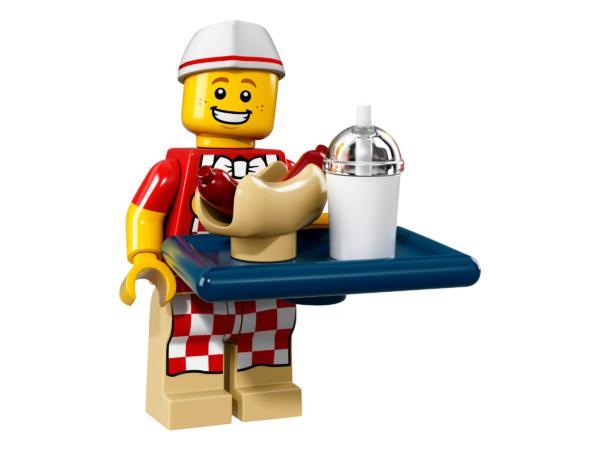 Lego Minifigur Serie 17 Hotdog-Verkäufer Figur 6 (71018)