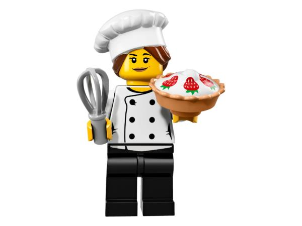 Lego Minifiguren Serie 17 Sterneköchin Figur 3 (71018)