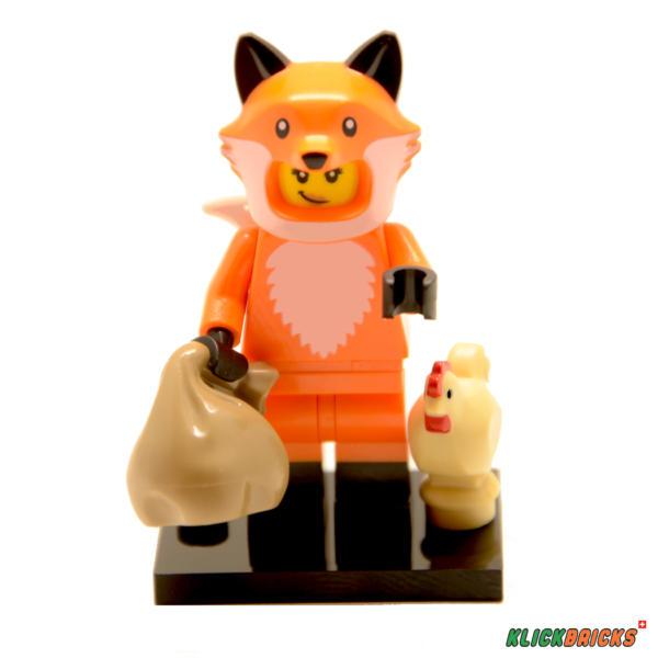 Lego Minifiguren Serie 19 Mädchen im Fuchskostüm Figur 14 (71025)