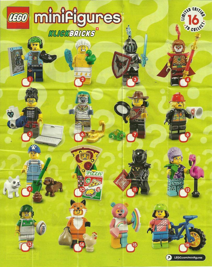 Lego® Minifiguren Sammel Serie 3  Nr.12 mit BPZ und Platte