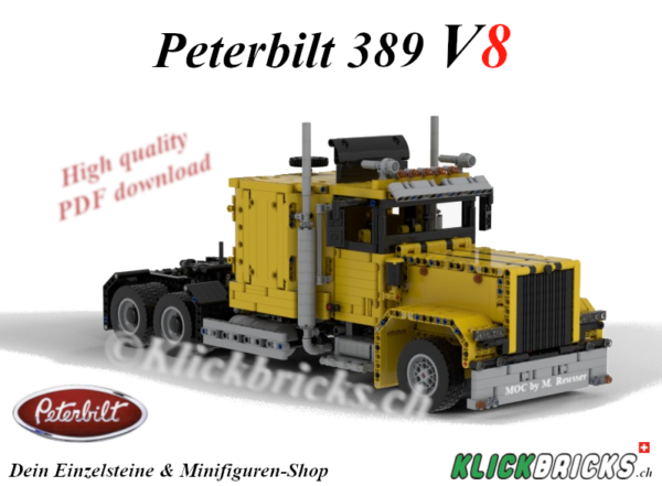 Peterbilt 389 MOC PDF Bauanleitung Instructions