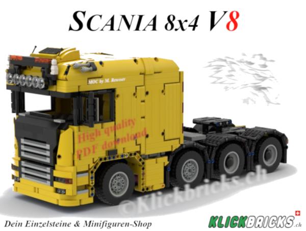 Scania-8x4-By-M-Reusser Lego MOC PDF Bauanleitung
