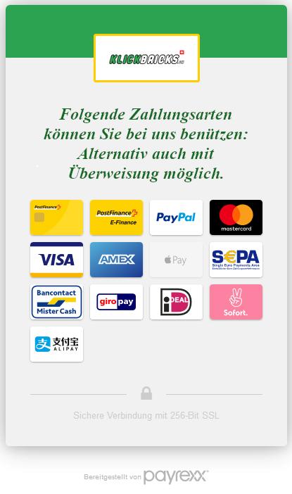 Bezahlmöglichkeiten Bezahlarten Klickbricks.ch