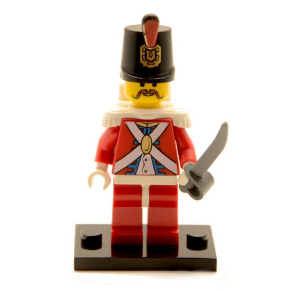 Lego Minifigur Rotrock mit Rucksack und Säbel (Custom)