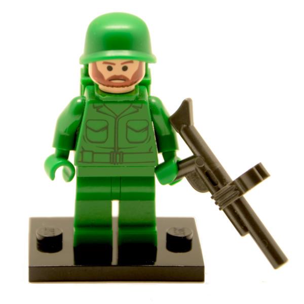 Lego Minifigur Soldat mit Gewehr (Custom)