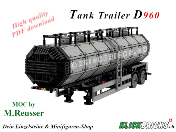 Lego Technic MOC Tank Trailer D960