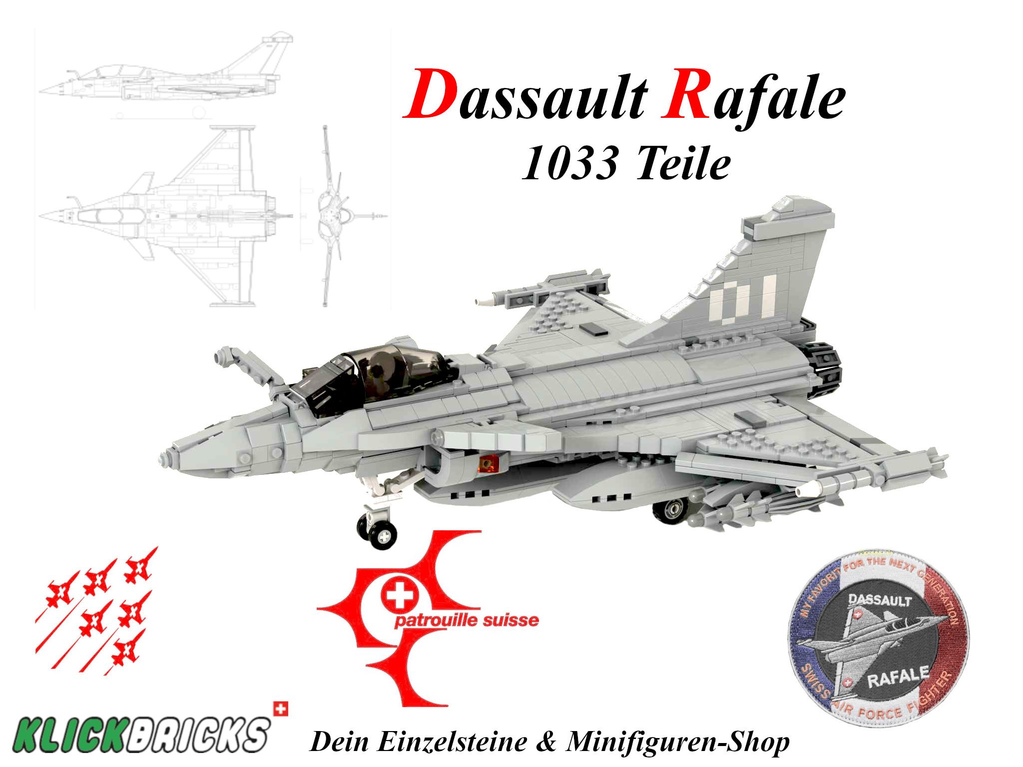 PDF Bauanleitung Kampfflugzeug Dassault Rafale – Klickbricks