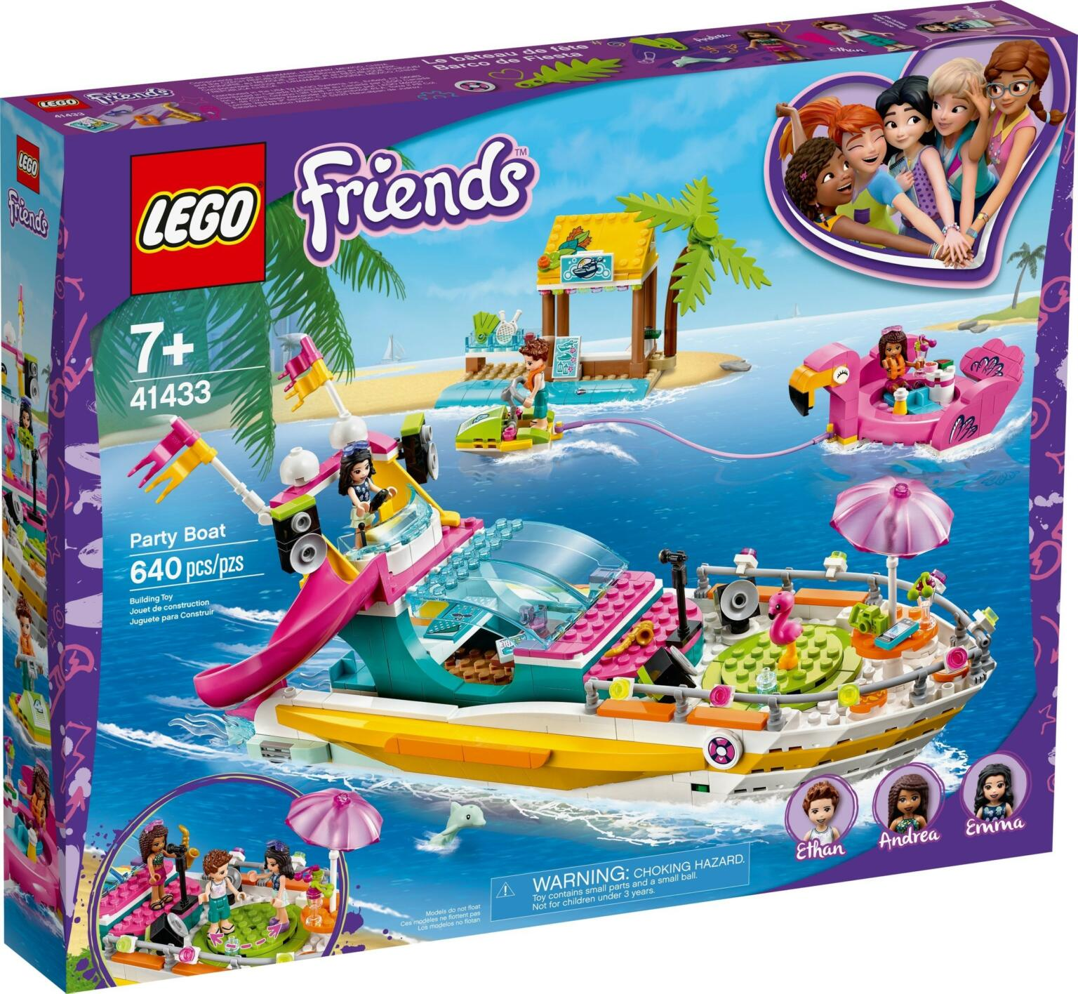41433: LEGO® Friends Party Boat / Partyboot von Heartlake ...